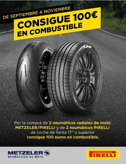 DE SEPTIEMBRE A NOVIEMBRE CONSIGUE 100€ EN COMBUSTIBLE